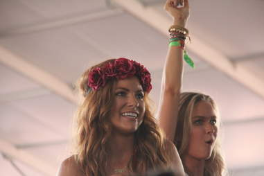 A girl in the audience at Coachella 2013