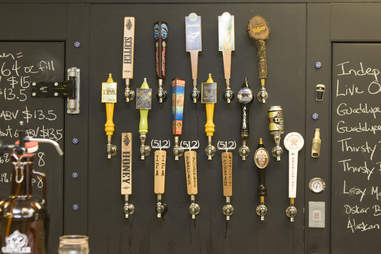 tap wall at Growler Room