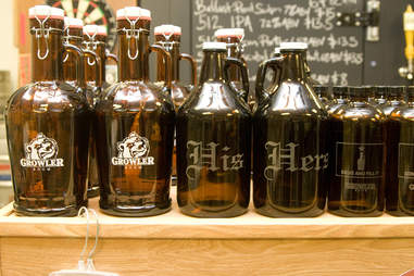 his and her's engraved growlers at Growler Room