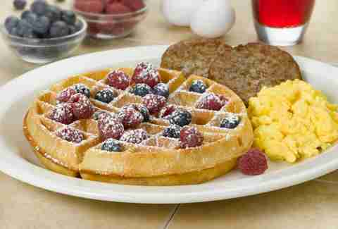 Waffles at The Egg and I