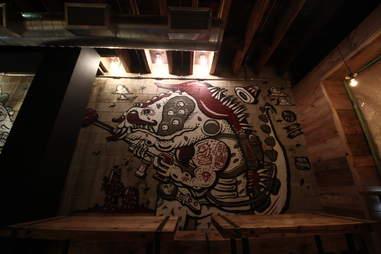 Tres Carnes living art mural