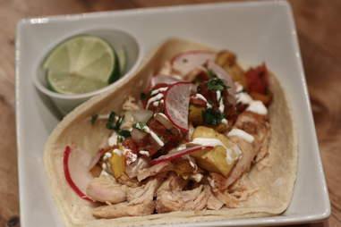 Chicken taco at Tres Carnes