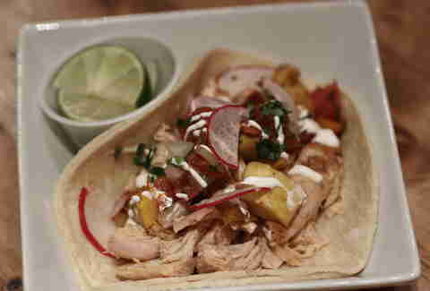 Chicken taco at Tres Carnes