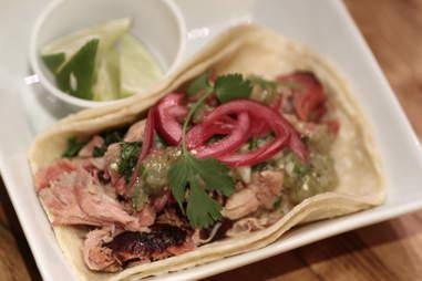 Pork taco at Tres Carnes