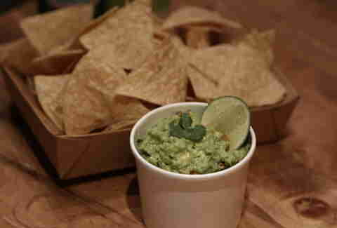 Smashed and smokey guacamole at Tres Carnes