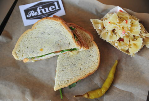 sandwich and side at reFuel