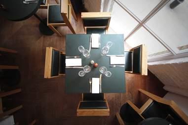 The tables at Heaton, Butler & Bayne