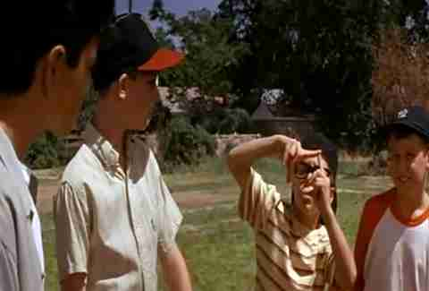 Squints and the kids in The Sandlot