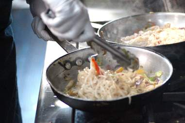 Fun Guyz Food Trolley cooking noodles