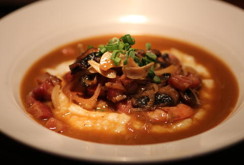 Shrimp and grits at Bitters, Bock, and Rye