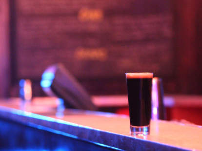 A beer on the bar at The Dolphin Tavern