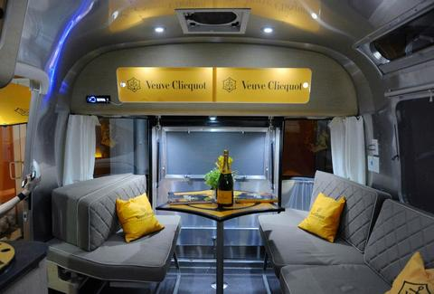 Veuve Clicquot Airstream interior