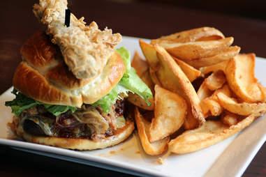Cask 'n Flagon's Cask Burger w/ Fries