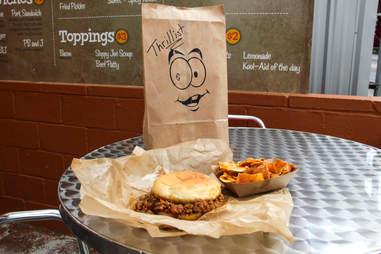 Ben's Brown Bag - Sloppy Joe and fries