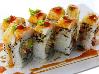 Sushi roll at Satto Thai & Sushi Bar