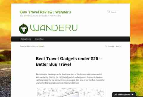 Wanderu.com review page
