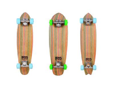 Three decks from Iris Skateboards