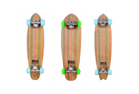 Three decks from Iris Skateboards