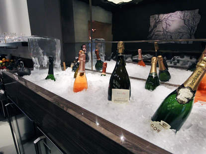 Iced champagne at Brindille