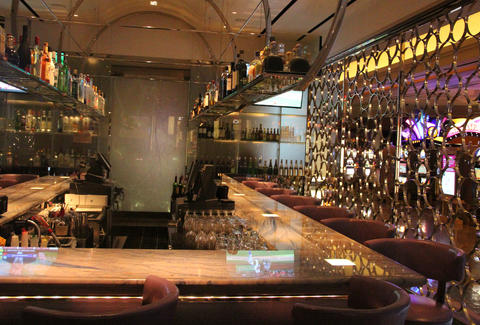 The former SeaBlue bar designed by Adam Tihany, now the bar at 28 West in the Borgata Hotel Casino & Spa