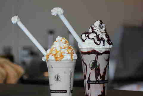shakes at Sweet Cow