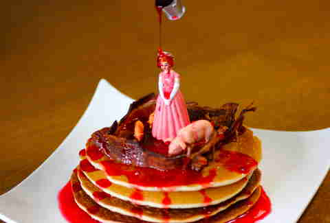 bloody Carrie pancakes at Horror Brunch