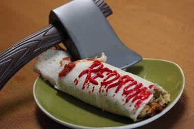Here's Johnny breakfast burrito at Horror Brunch