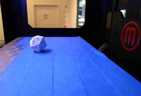 20-sided die at The 3D Printer Experience in River North