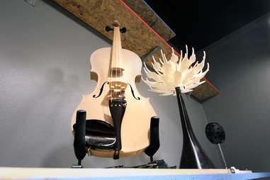 Rare Stradivarius violin at The 3D Printer Experience in River North