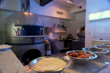 Oven and ingredients at Stanzione 87