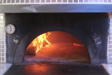 Wood burning pizza at Stanzione 87