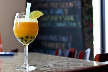 Chow Bing - Mango Bubble Tea
