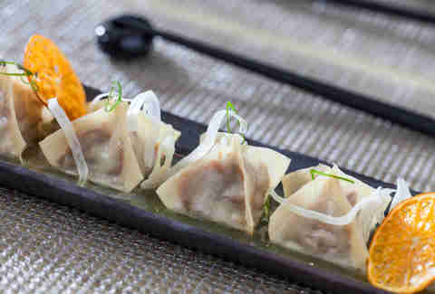 Duck and fennel potstickers at Kabocha Japanese brasserie in the West Loop