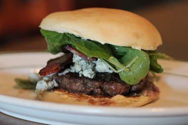 Bleu cheese burger at Moxy