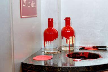 Hand dipped bottles of Maker's White in the distillery gift shop