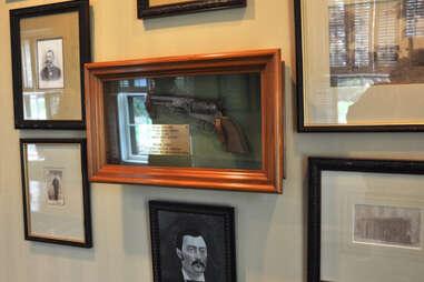 Frank James' pistol at Maker's Mark distillery