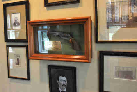 Frank James' pistol at Maker's Mark distillery