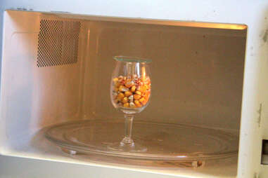 Corn kernels in the microwave at Four Roses