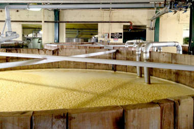 The mash tubs at Four Roses
