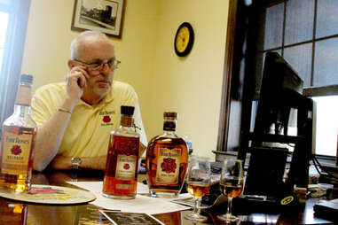 Four Roses' Master Distiller in his office.