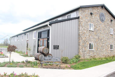 The exterior of Limestone Branch Distillery in Lebanon, KY
