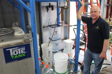 Steve Beam in his Limestone Branch Distillery in Lebanon KY