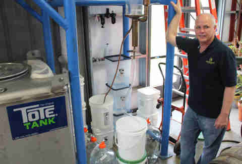 Steve Beam in his Limestone Branch Distillery in Lebanon KY