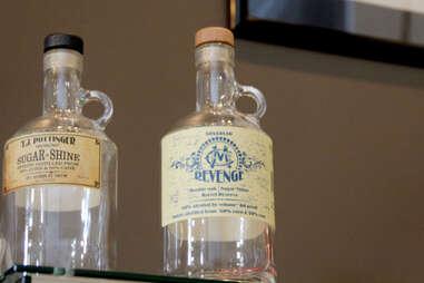A bottle of Limestone Branch's Revenge moonshine.