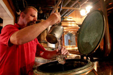 A sample of Maker's Mark being poured from the still.
