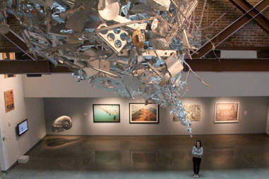 The basement gallery at 21C Museum Hotel in Louisville.