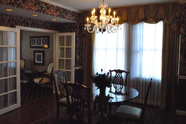 The dining room in the Ali Suite at the Brown Hotel in Louisville