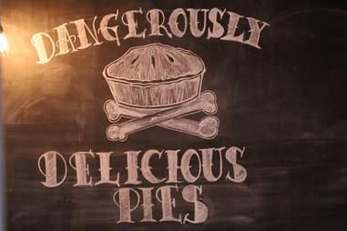 Dangerously Delicious chalkboard