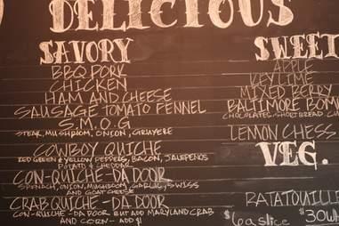 Dangerously Delicious menu