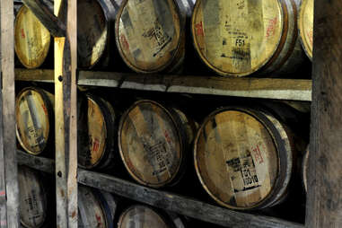 Barrels aging at Maker's Mark
